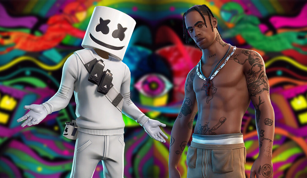 when-travis-scott-&-marshmello-will-return-to-fortnite's-merchandise-shop