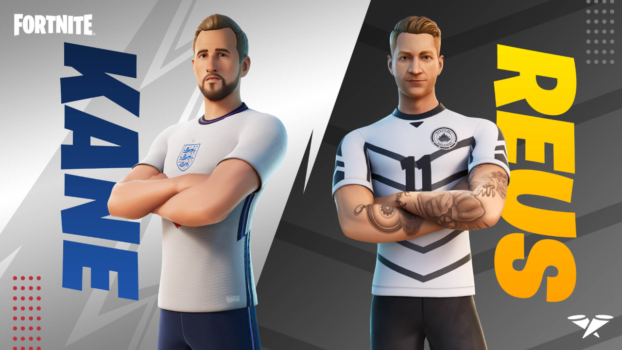 Harry Kane and Marco Reus join the Fortnite Icon Series