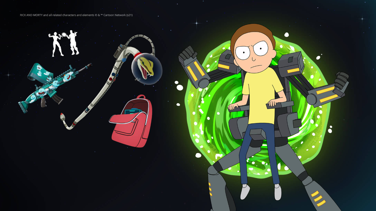 morty-has-joined-rick-sanchez-in-fortnite-with-new-'mecha-morty'-outfit
